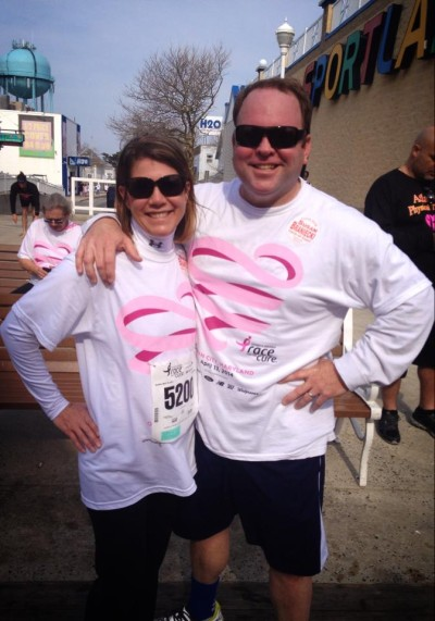 Alyson and Joe after the Race for the Cure