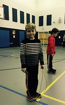 Brody at Jump Rope for Heart