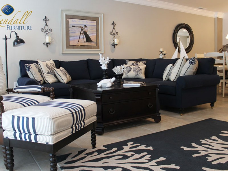 Navy Living Room